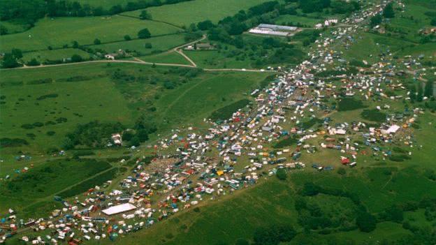 Территория фестиваля Каслмортон, 1992