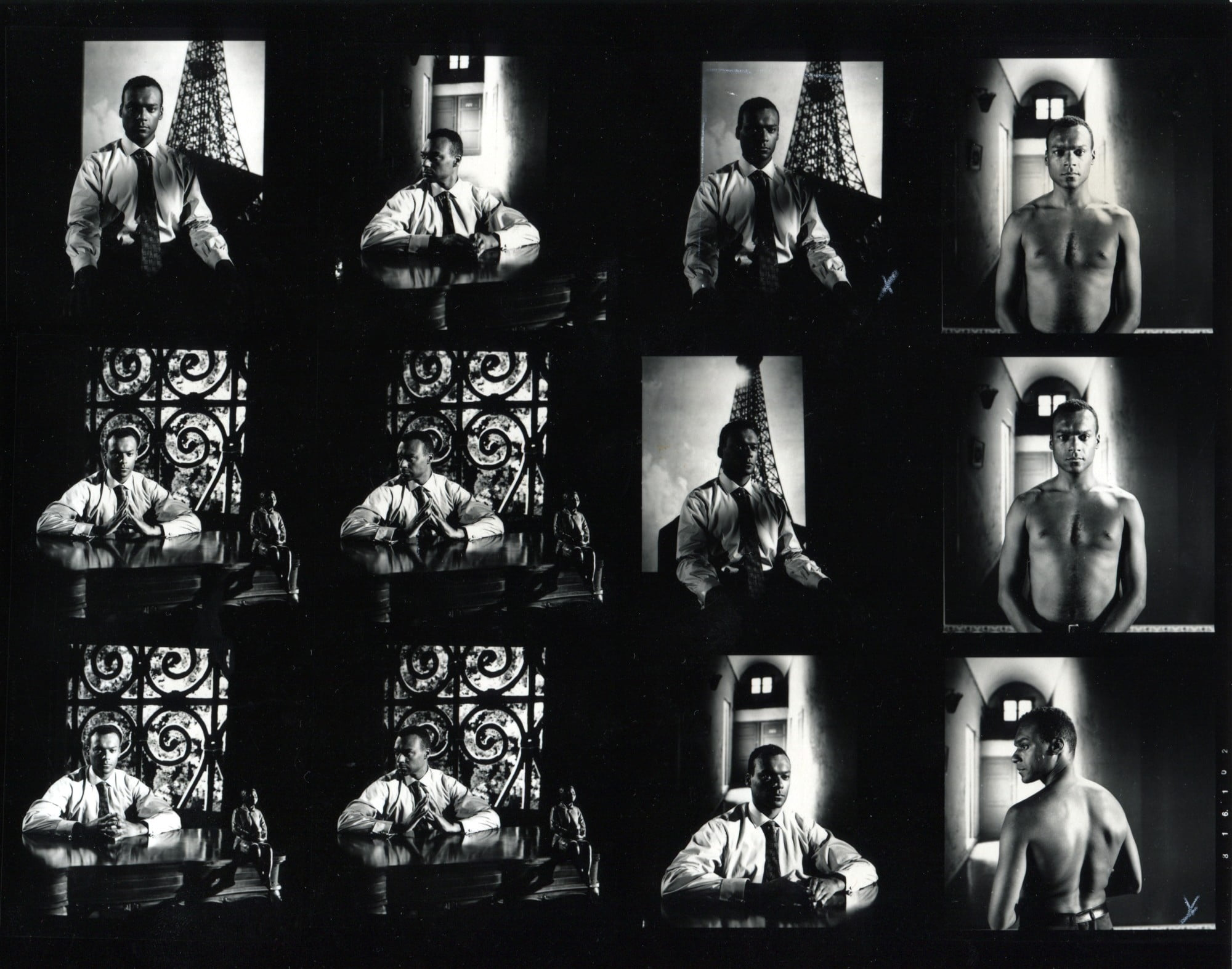 <i>Production stills «Frantz Fanon: Black Skin Whitr Mask», featuring Colin Salmon</i>