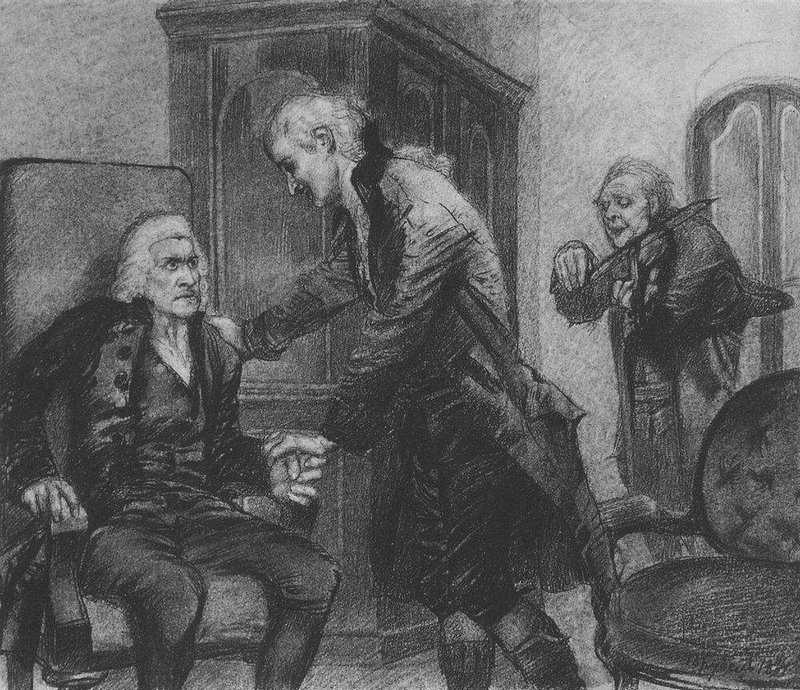 М.А.Врубель. Моцарт и Сальери