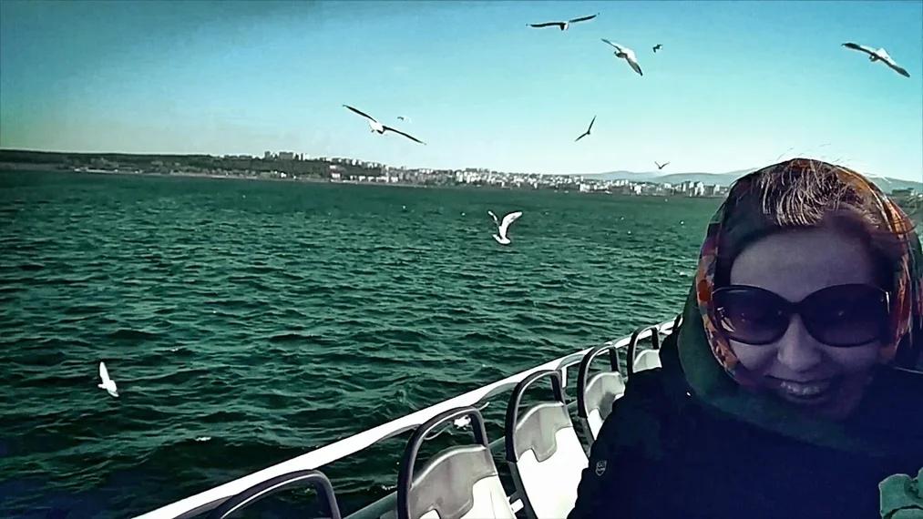 Кадр из документального фильма Елены Погребижской и студии «Partizanets» «Синяя чайка»