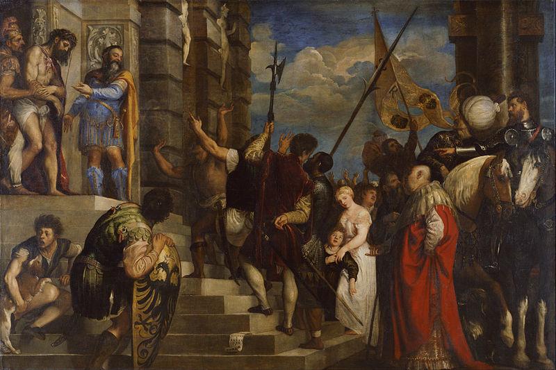 «Се человек». Художник эпохи Возрождения, Тициан. 1543