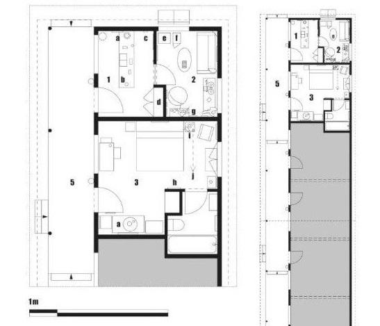 Мотель Бейтса. План этажа. Из книги Стивена Джейкобса «Неправильный дом. Архитектура Альфреда Хичкока»