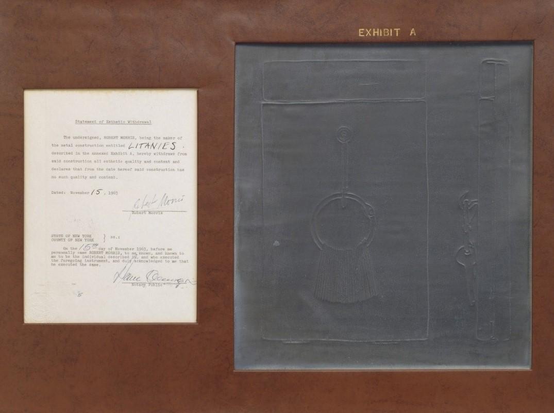 Роберт Моррис «Документ» (1963). Источник: moma.org