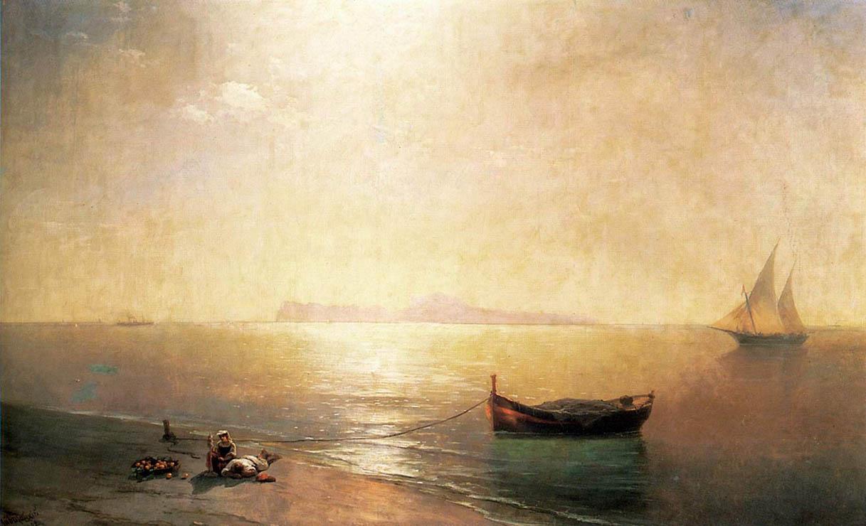 Идиллический пейзаж И.К.Айвазовского «Штиль» (1837)