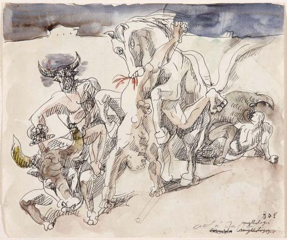 Андре Массон, «Мифологическая коррида», 1936