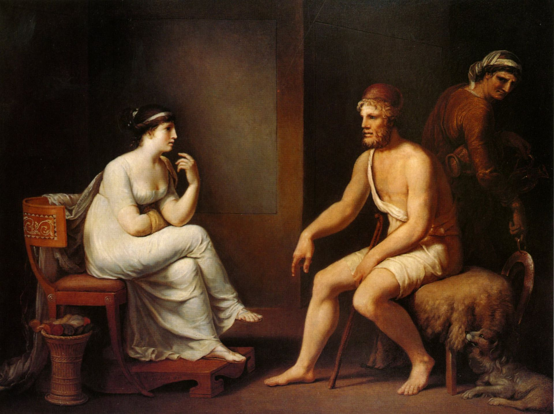 Odysseus and Penelope (1802) by Tischbein