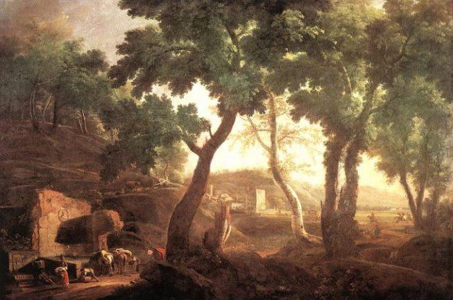 Риччи М. «Пейзаж с лошадьми». Венеция, ок. 1720. Галереи Академии