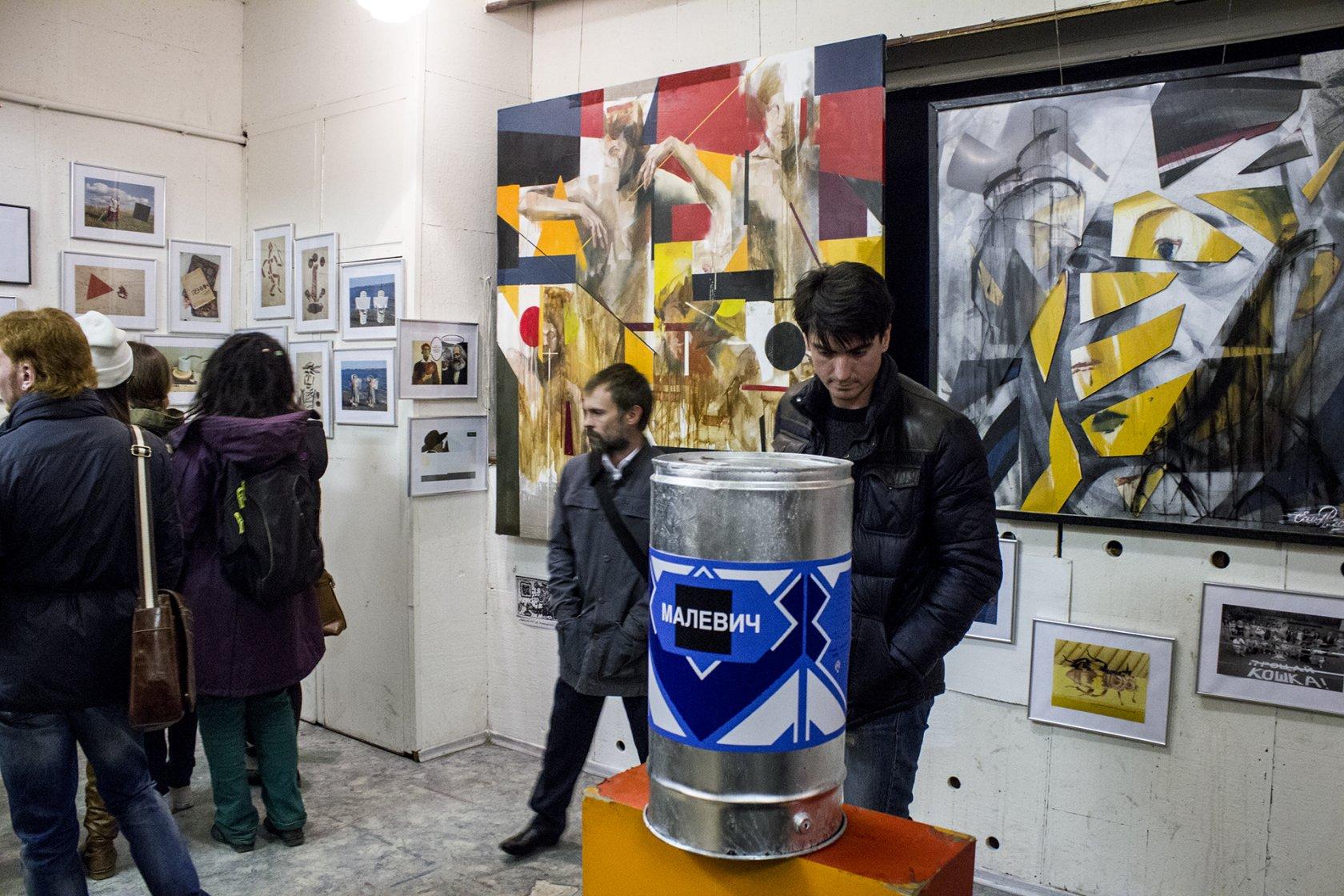 Выставка «Утверждение новейшего. Новые Сибирские художники против Русского Авангарда», галерея SOMA, Новосибирск, 2015.