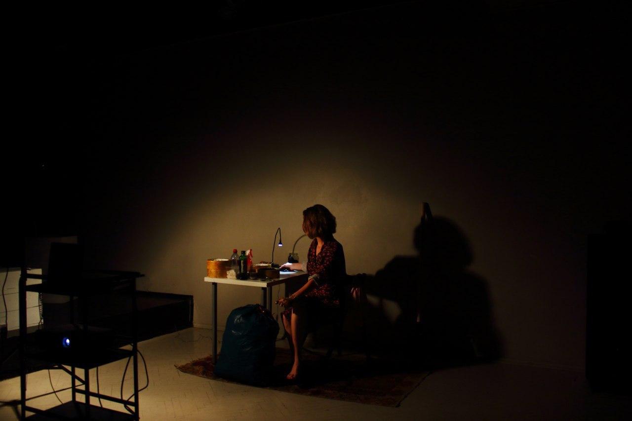 Фрагмент онлайн-перформанса «Копать надо здесь» для галереи «Ходынка» в Москве