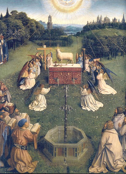 "Ян Ван Эйк, ""Поклонение Агнцу"", 1432 г."