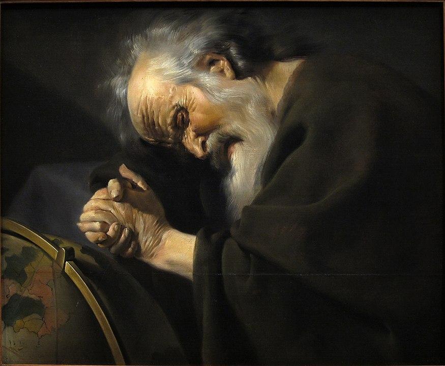 Плачущий Гераклит кисти голландского художника Иоанна Мореелсе, ок.1630 г.