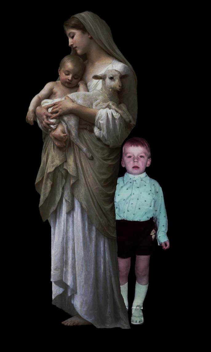 В рамках картины Вильяма Бугро «Невинность».