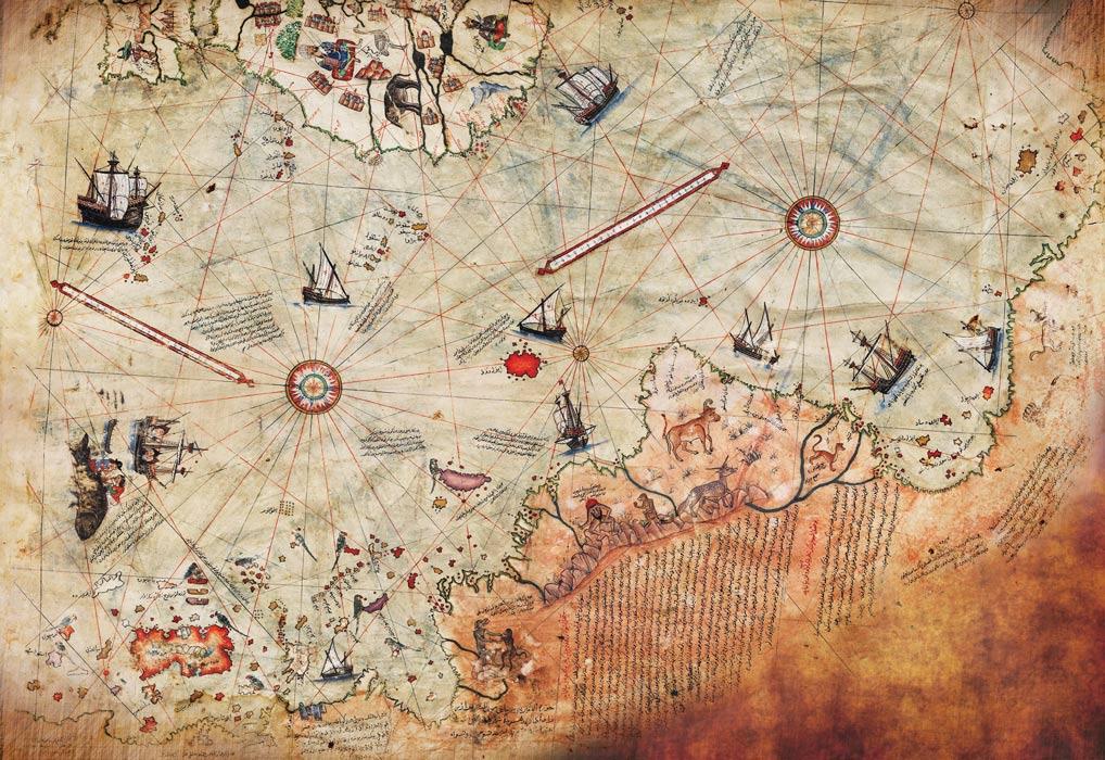 Карта Пири Рейса ибн Хаджи Мехмеда