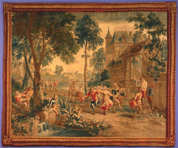 Шпалера «Танец вокруг майского дерева»Фландрия, Брюссель, ок. 1720 г.Исполнена по картонам Яна ван Орлея Младшего и Авгус