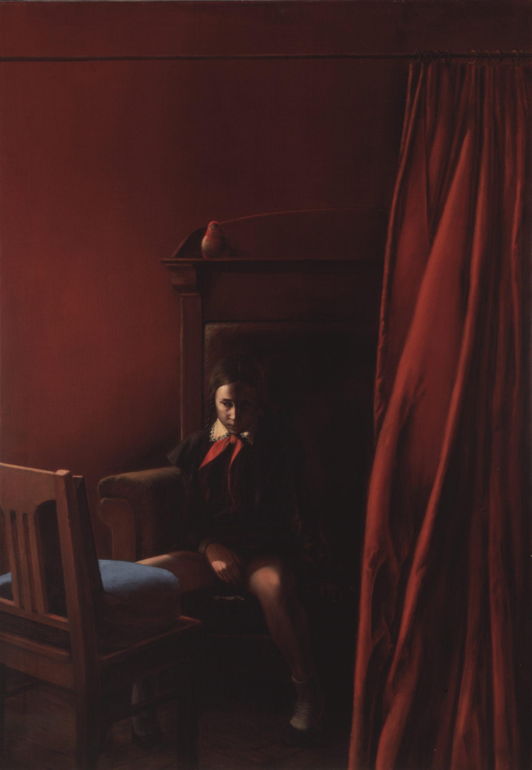 В. Комар, А. Меламид. «Девушка перед зеркалом» из серии «Ностальгический соцреализм». 1981−1983
