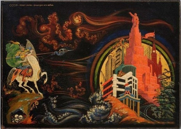 лаковая миниатюра П.Д.Баженова (1904-1941)