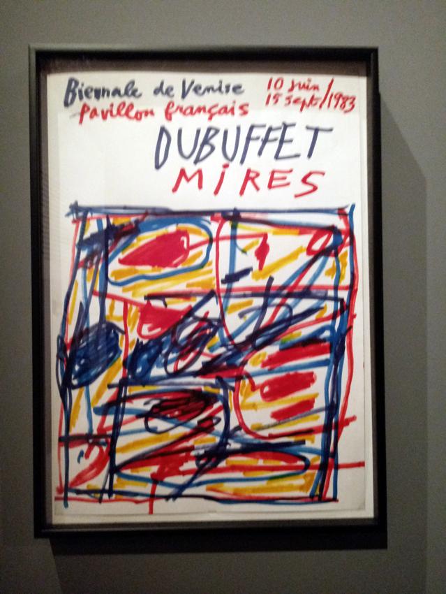 Афиша Франузского павильона 1983, нарисованная Ж. Дюбуффе к собственной выставке