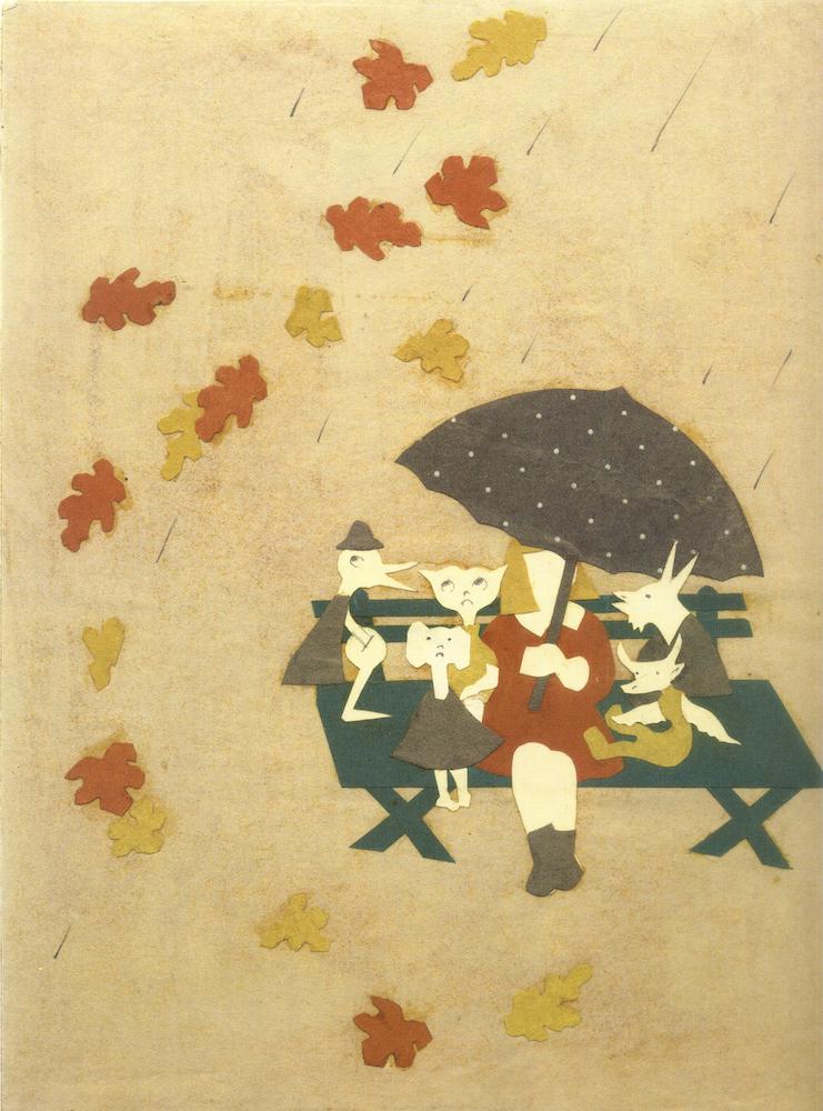 Иллюстрация из неизданной первой книги Эсфирь Слободкиной «Мэри и ее воображаемые друзья» (1937).