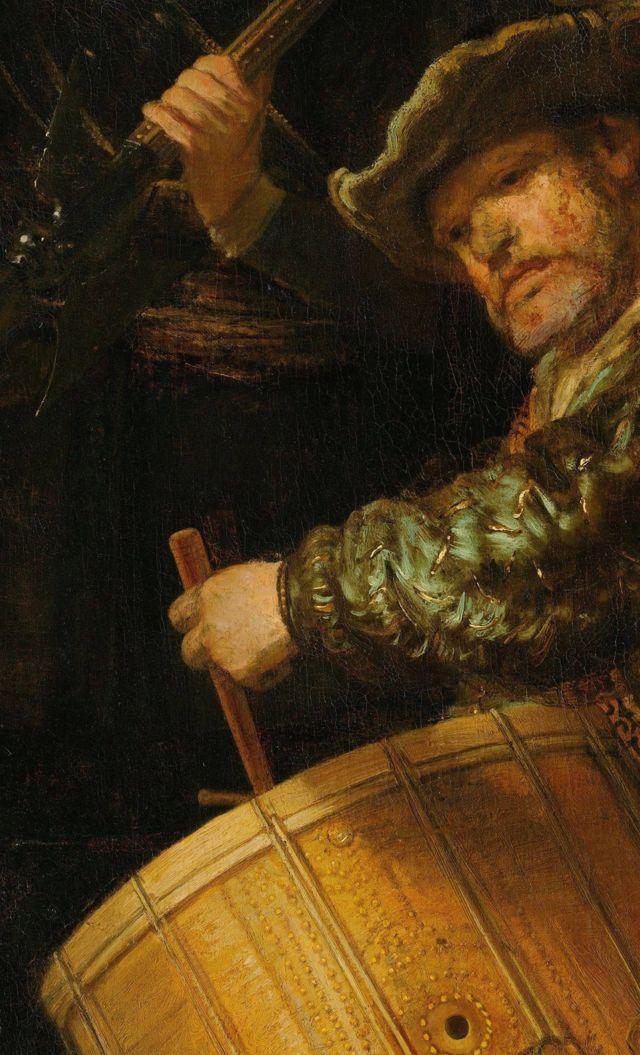Рембрандт Харменс ван Рейн,«Ночной дозор», фрагмент.— RIJKSMUSEUM