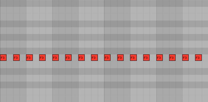 <b>Пример 2: off-beat партия с сайдчейном, где добавляются ноты на тех долях, где вступает бочка</b>