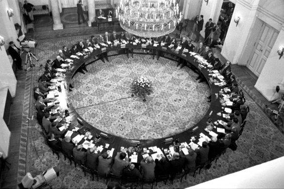 Заседание «Круглого стола». 1989 год