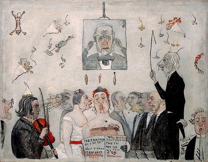 Джеймс Энсор, В консерватории, 1902