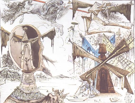 Иллюстрация Сальвадора Дали к«Дон Кихоту» Мигеля де Сервантеса