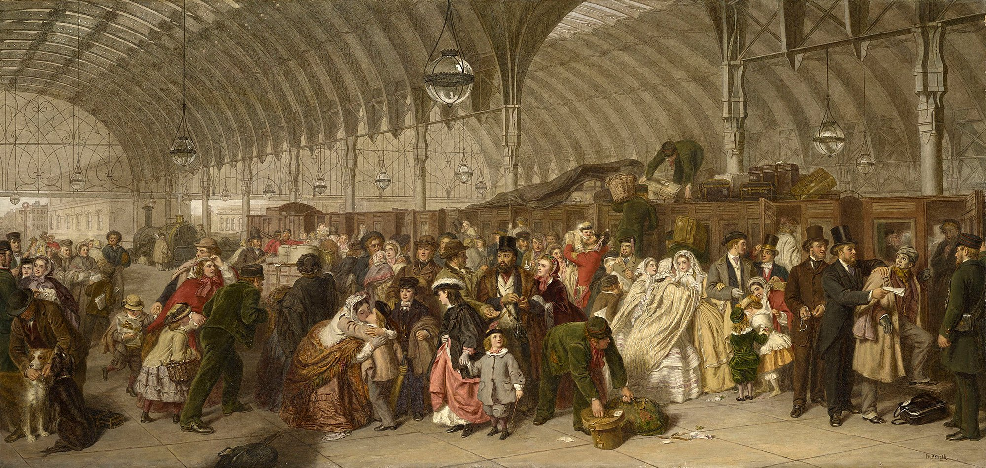 William Powell Frith. The Railway Station, 1862.