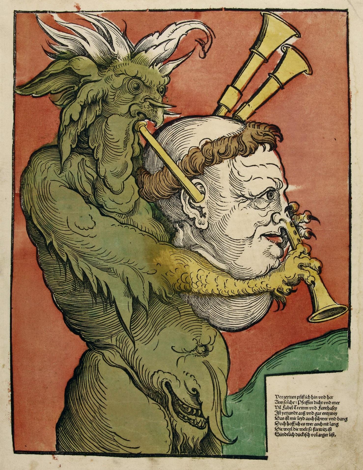 13. Эрхард Шён. Дьявол с волынкой. Ок. 1535.