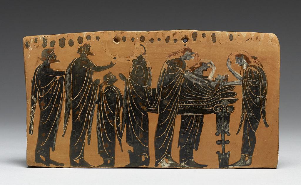 Древнегреческая похоронная церемония, 6 век до н.э.