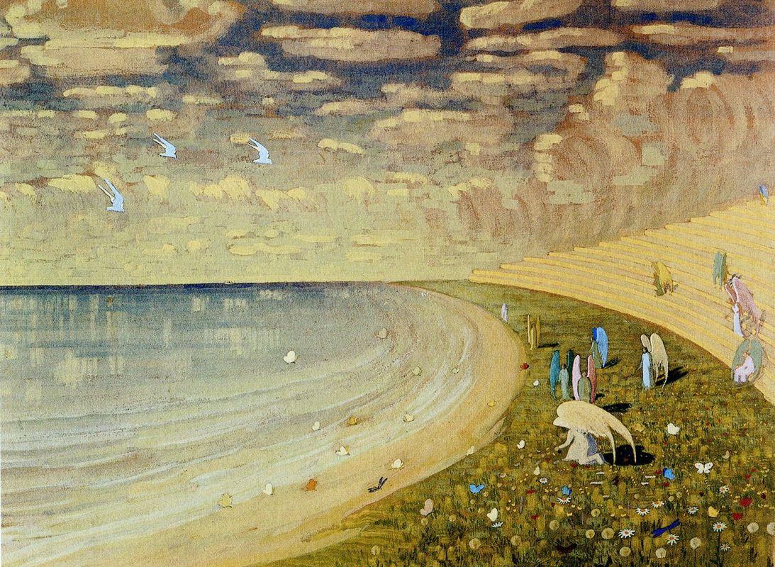 М. Чюрленис, Ангелы. Рай, 1909 г.