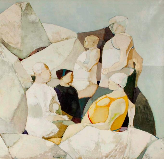 Donne fra le rocce. 1954-1955