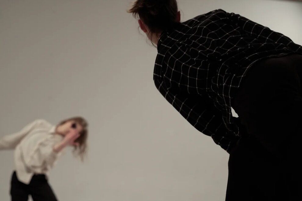 Performance «What Is Actually Going On?» Studio SDVIG, February 14th, 2019. Photo by Stas Pavlenko