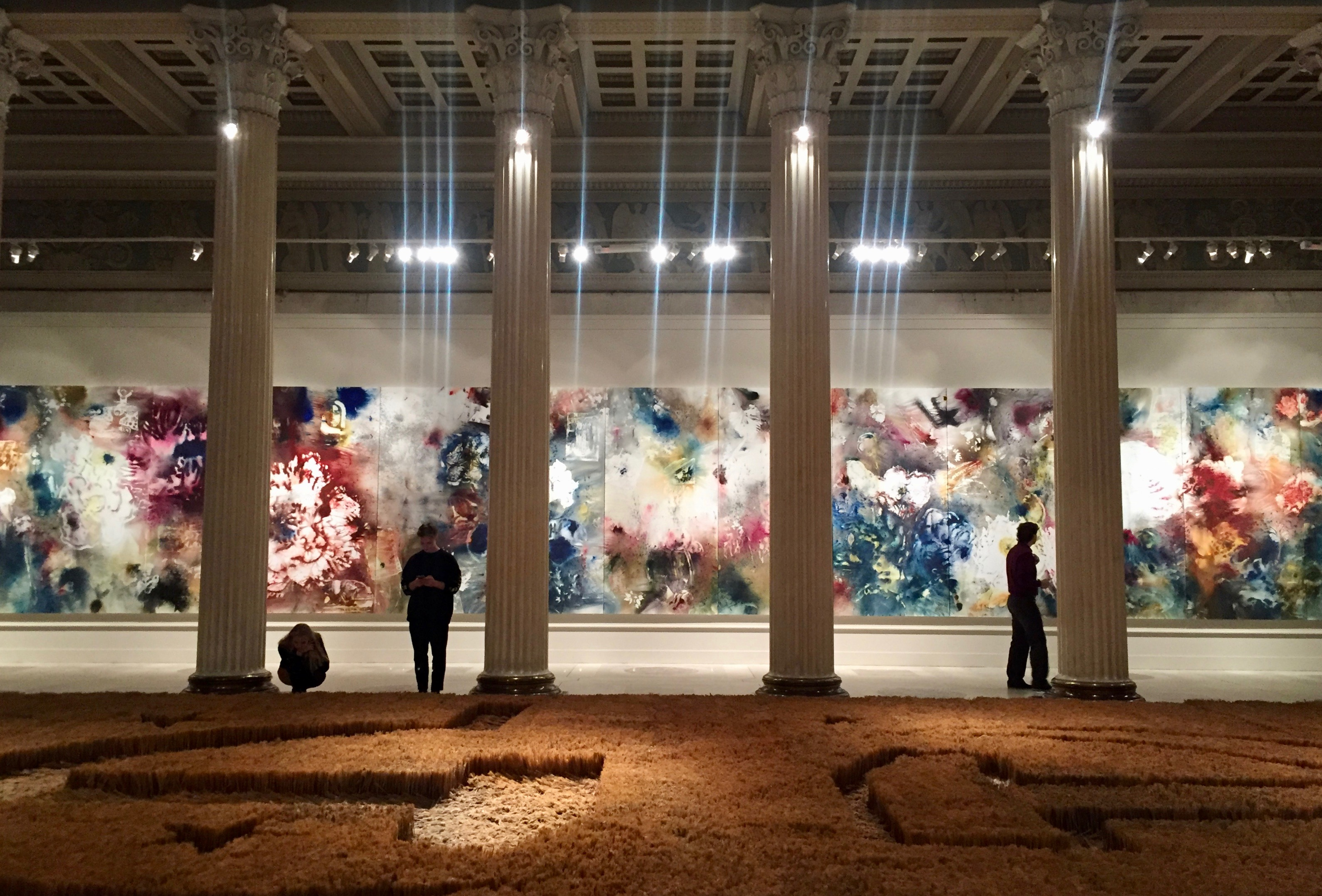 Installation <i>Garden</i> by Cai Guo-Qiang, Pushkin State Museum of Fine Arts