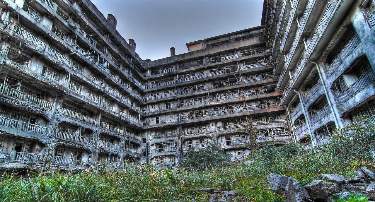 Руины острова Хасима