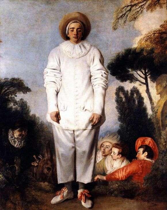 <i>Жан-Антуан Ватто, Жиль в костюме Пьеро, 1720 -1721 гг.</i>