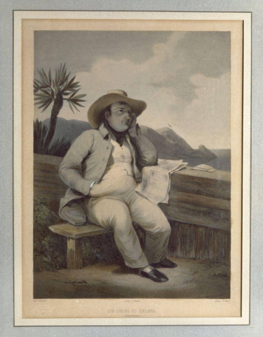 Franz Gerasch, d'après Horace VernetNapoléon Ier en planteur à Sainte-Hélène; Photo (C) RMN-Grand Palais (musée des châte