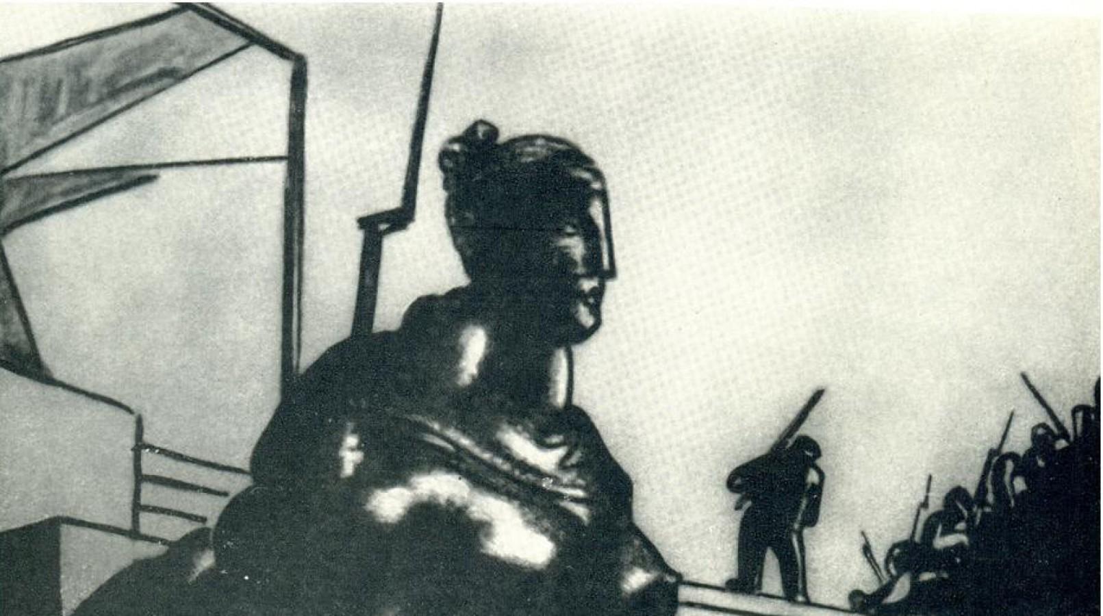 Эскиз Владимира Егорову к фильму «Мы из Кронштадта»