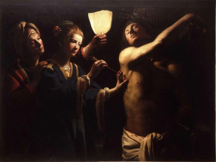Трофим Биго. Святой Себастьян, спасаемый святой Ириной. Ок. 1620-30