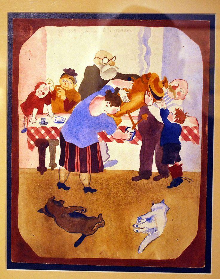 Иллюстрация Веры Ермолаевой для «Иван Иваныча Самовара» Хармса. 1930