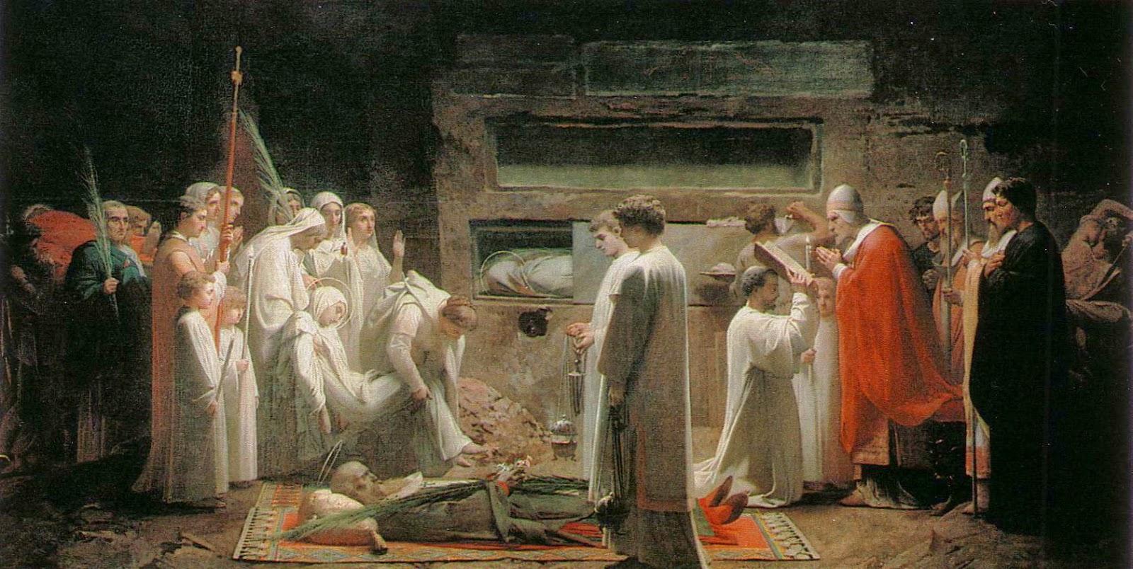 Жюль Эжен Леневё. «Мученики в катакомбах». 1855