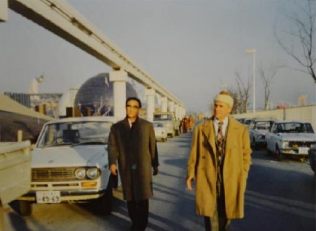 Дзиро Йосихара и Виллем де Кунинг. Экспо-70, 1970 год. Courtesy:Gutai Materials, Ashiya City Museum of Art and History,