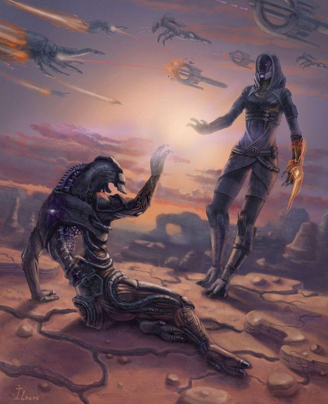 Кварианка Тали и гет Легион (<a>источник</a>)