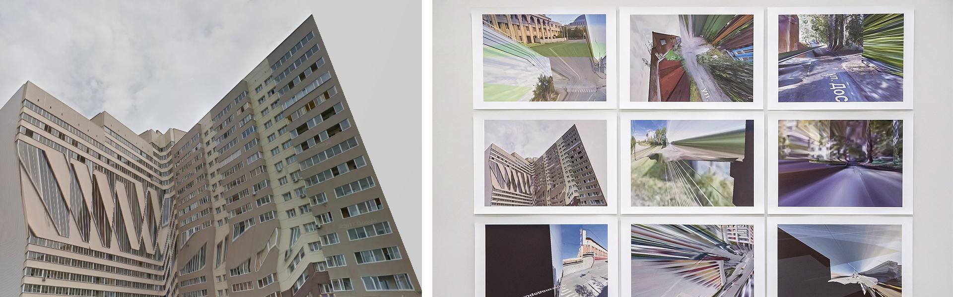 Алек Борисов, «Анархитектура», из серии «Угол карты». Фрагмент экспозиции. Фото предоставлено автором.