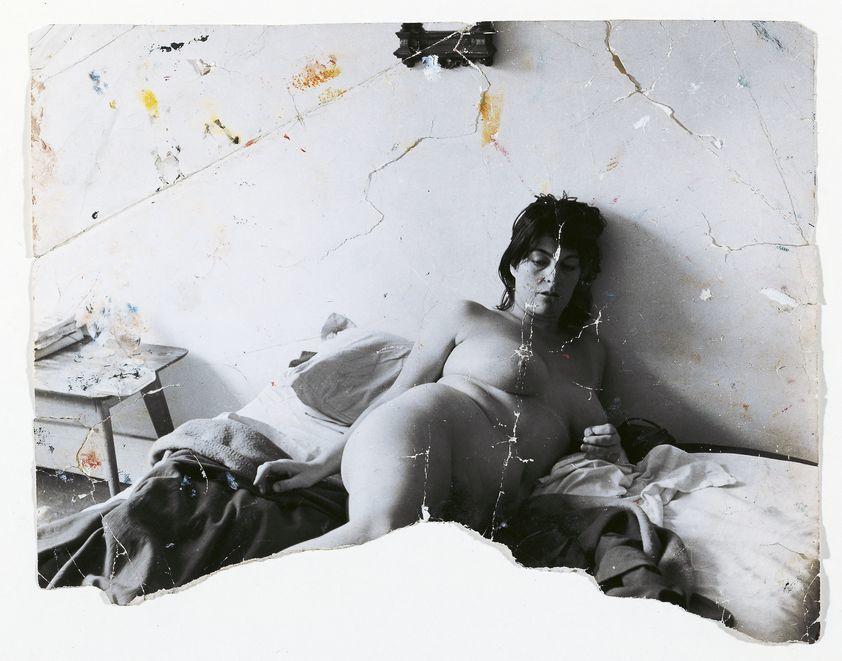 Д. Дикин. Генриетта Мораес. Ок. 1963. Фотография (видоизмененная Фрэнсисом Бэконом).