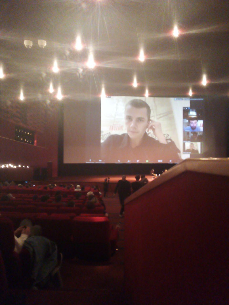 11 октября, КАРО, ZOOM. Крупно на экране —Феликс Лефевр. Снято из под полы, не обессудьте
