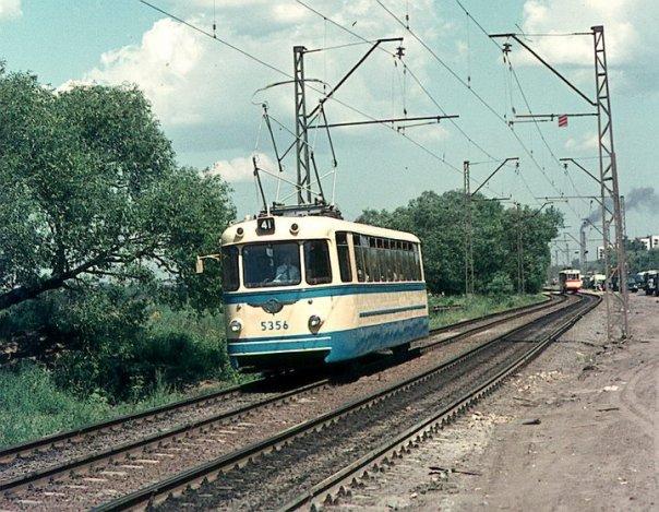 Петергофское шоссе. Трамвай ЛМ-57.