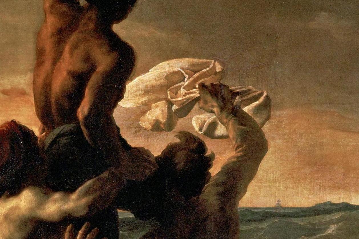 Теодор Жерико, Плот «Медузы» (фрагмент), 1819