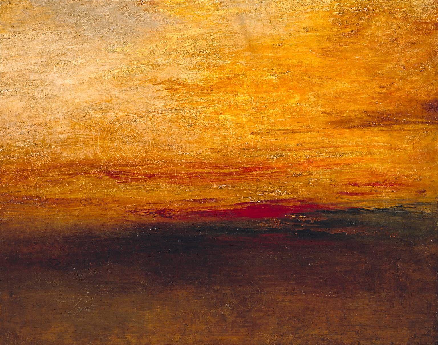 Joseph Mallord William Turner. Sunset, 1835.