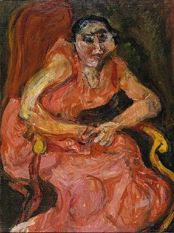 Х. С. Сутин. Женщина в розовом. 1982.